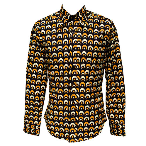 Chenaski Black& Yellow Eyeball Shirt