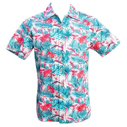 Chenaski Flamingo Shirt Black