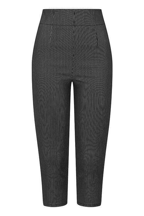 Hell Bunny Pinstripe Cropped Trousers