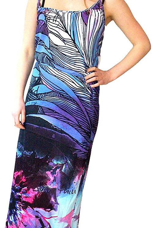 Desigual Sahara Purple Maxi Dress