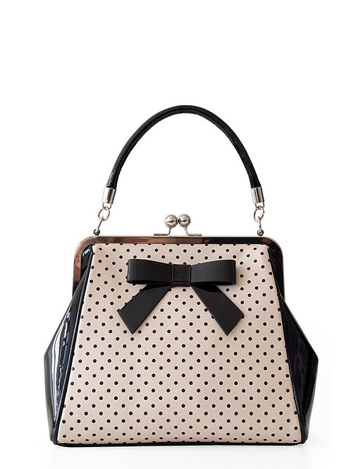 Banned Retro 1950's Polka Starr Frances Blush Handbag