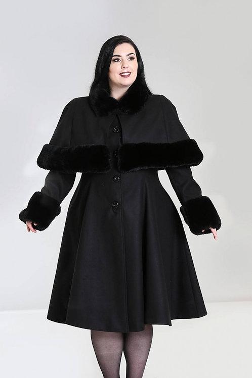 Hell Bunny Black Cape Coat