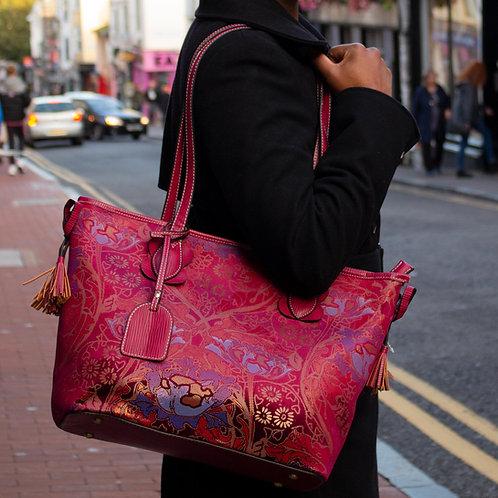 Victorian Floral Shopper Handbag by Laura Vita