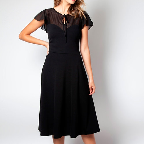 Victoria Black Flutter Dress by Voodoo Vixen