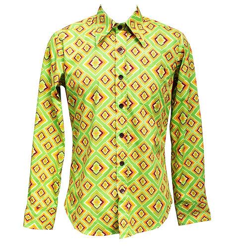 Chenaski Green Rhombus Shirt