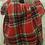 Thumbnail: Wool Blend Red Tartan/Houndstooth Reversible Scarf