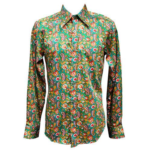 Chenaski Green Paisley Shirt