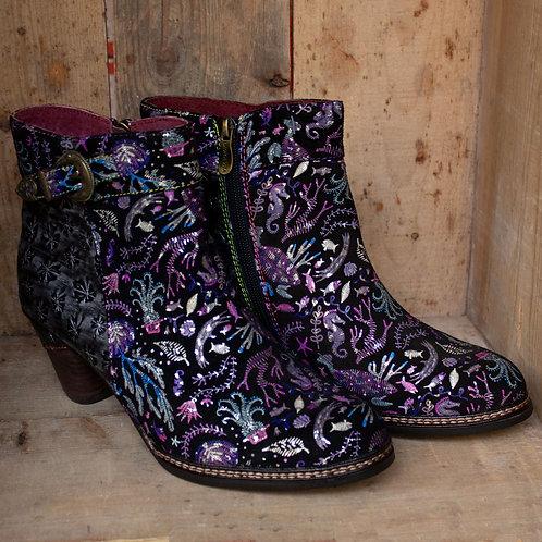 Alice Flowers & Sea Laura Vita Heeled Ankle Boot