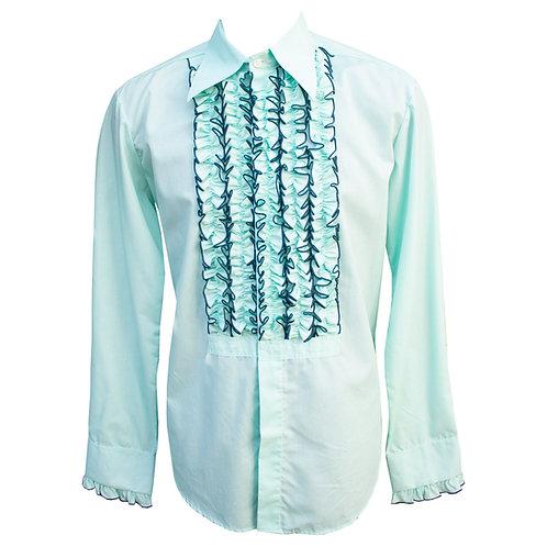 Chenaski 70's Frill Shirt Mint Green