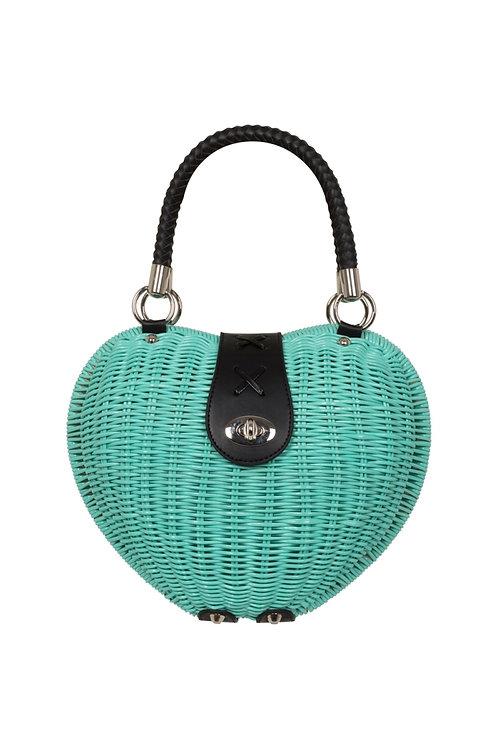Voodoo Vixen The Monroe Turquoise Heart Bag