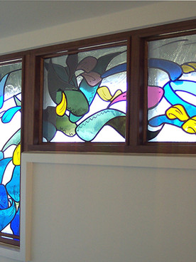 Window in the Island Hotel, Tresco