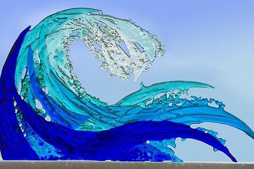 Coloured Cresting Wave