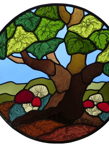 Oak tree window.