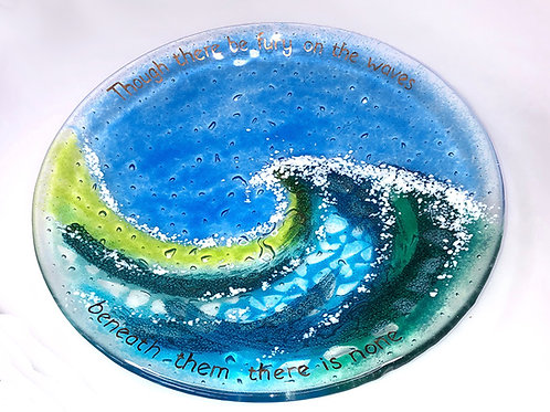 """Fury"" Fused Glass Dish"
