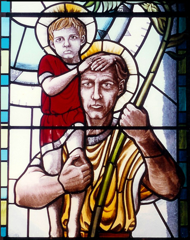 Detail of St. Christopher window