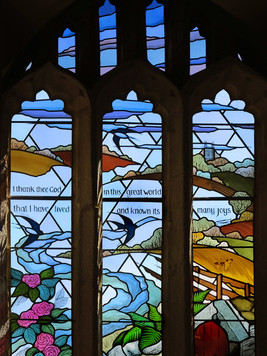 Memorial window, Ladock Church, Cornwall