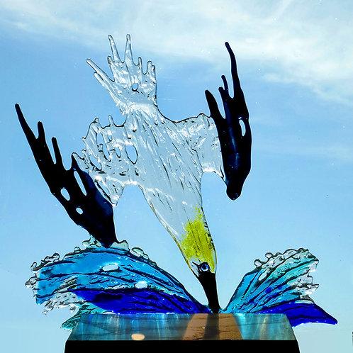 Diving Gannet sculpture