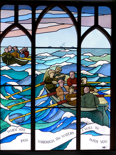 """""""gig"""" window in St. Agnes Church, Isles of Scilly."""