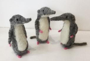 little felt shrews by Sara Mackin