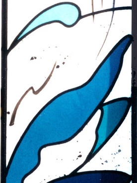 "Stained glass panel ""Water"""