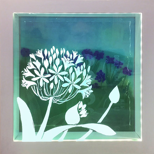 Light box with etched glass