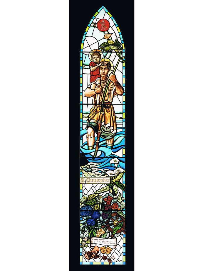 St Christopher window, Isles of Scilly