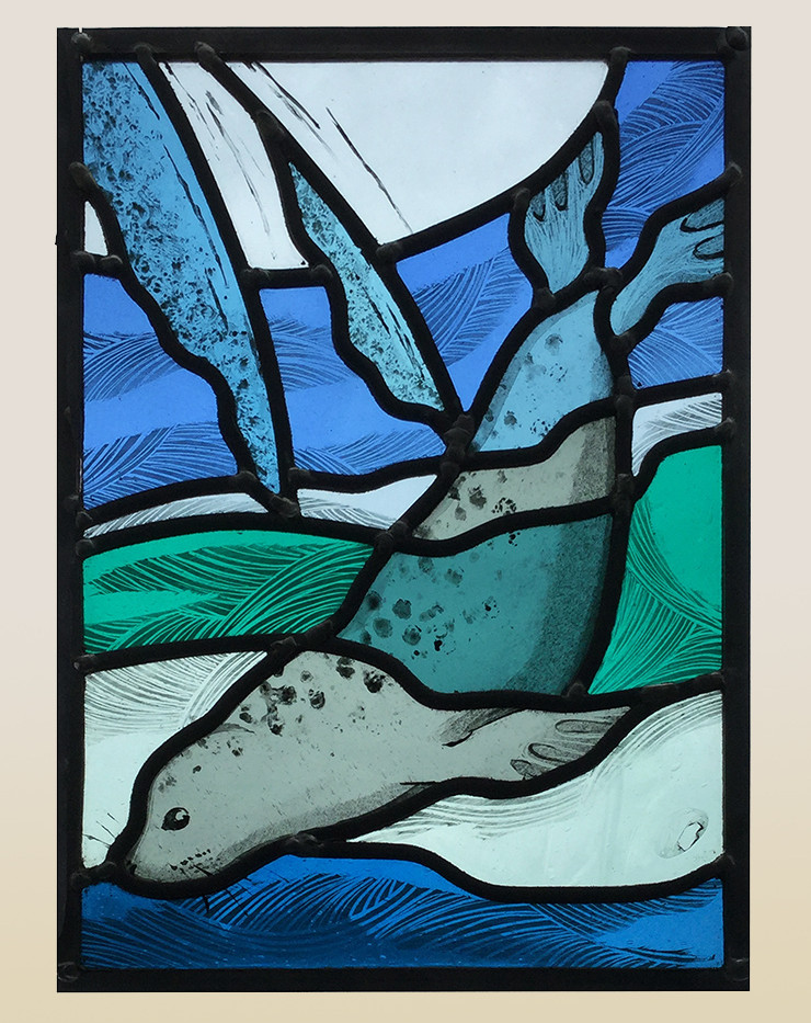 Stained glass seal panel
