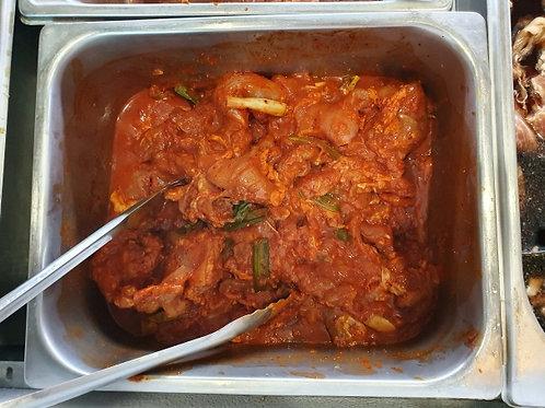 매콤한 양념 닭갈비Marinated chicken辣味的炒鸡排