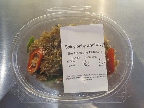 멸치볶음Spicy baby anchovy