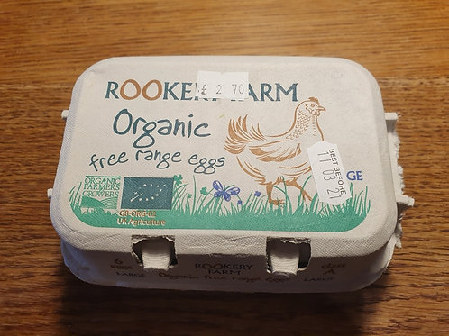 Organic Freerange Large eggs 6pcs