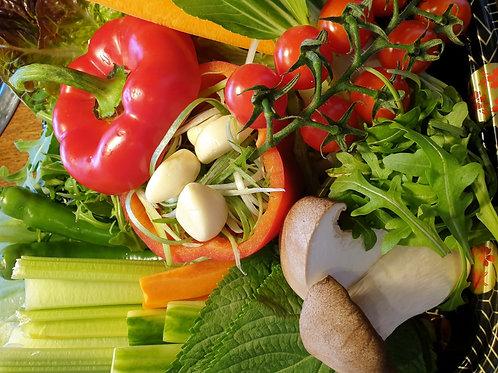 vegetables set for Korean BBQ 모듬 쌈채소