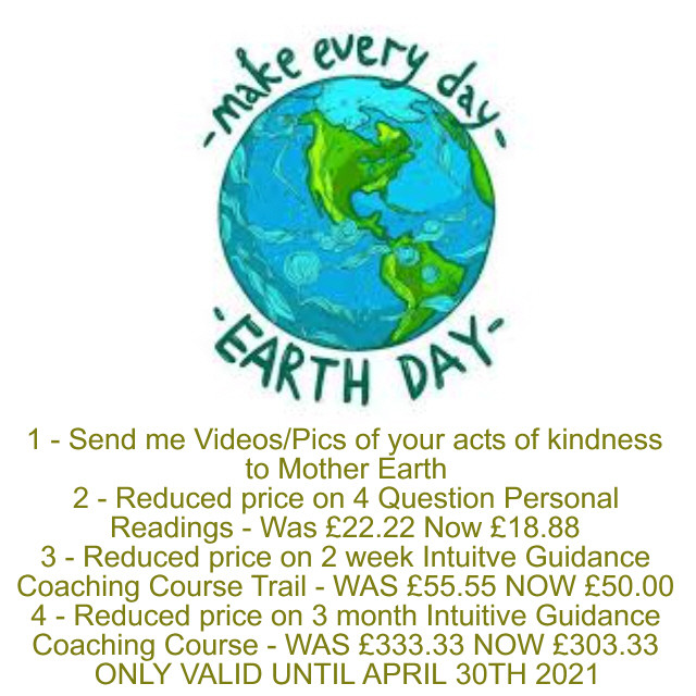 SPECIAL OFFERS for Earth Day 2021!! What are YOU doing to show Kindness to Mother Gaia? Let me know!