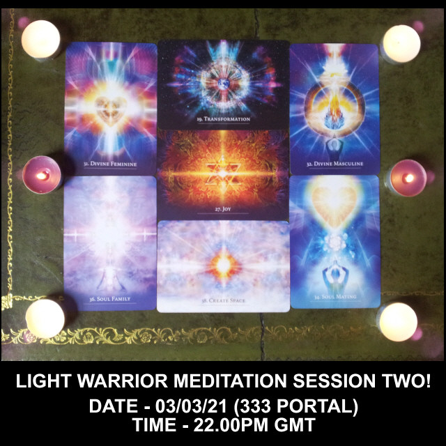 Light Warrior Session Two! Join Us over on Youtube to send Love and Light into the Collective!