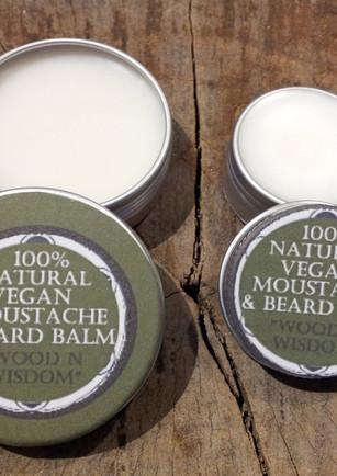 Vegan Moustache and Beard Balm n Wax Set