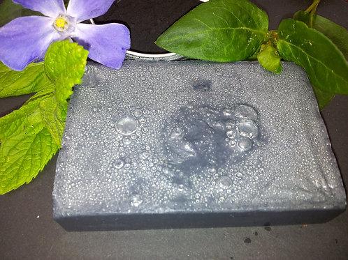 100% Natural Vegan SLS Free Activated Charcoal and White CamphorSoap Bar