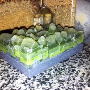 Jade Crystal Geode Soap Sunrise2Sunset