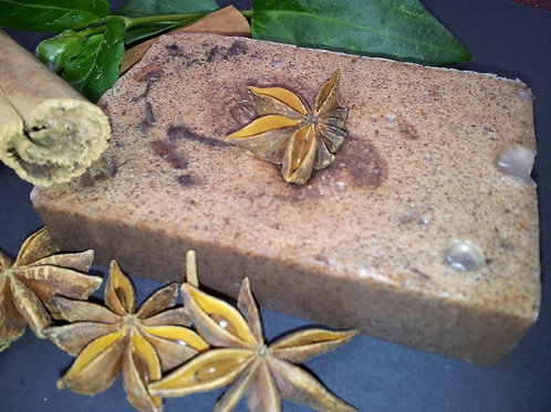 100% Natural Vegan SLS Free Cinnamon and Star Anise Soap Bar