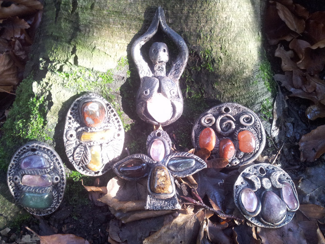 Beautiful Hand Made Crystal Amulets for wear as a Necklace or Meditation Aid!
