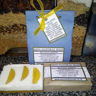 Lemon Slice Sunrise2Sunset Soap