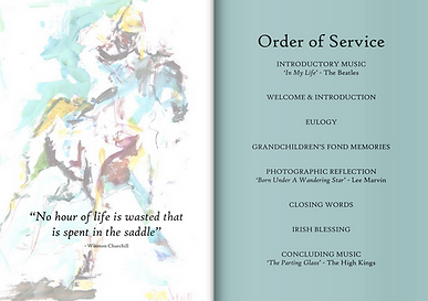BJV Order of Service Booklet Funerals Mornington Peninsula Funerals