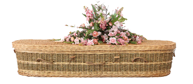Mornington Peninsula Funerals wicker coffin
