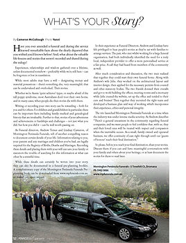 Mornington Peninsula Funerals article