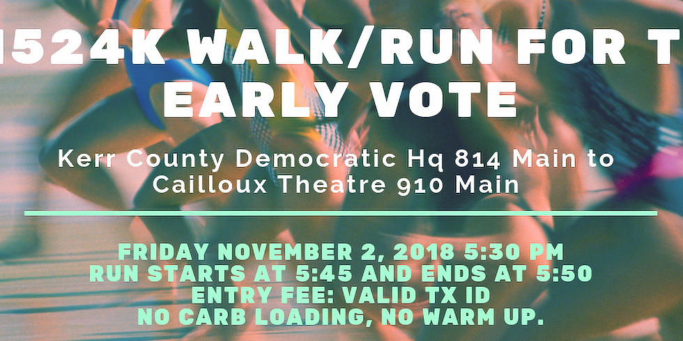0.1524K Walk/Run for the Early Vote