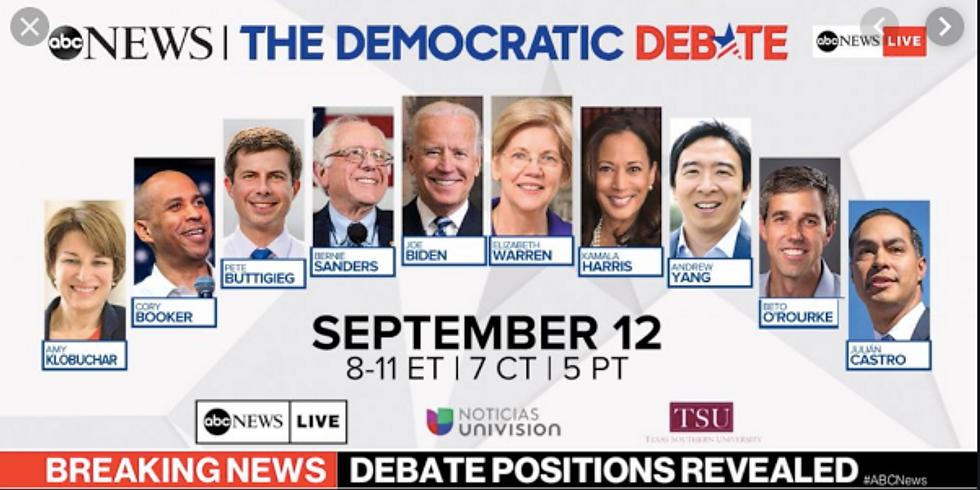 September 2020 Democratic Presidential Primary Debate