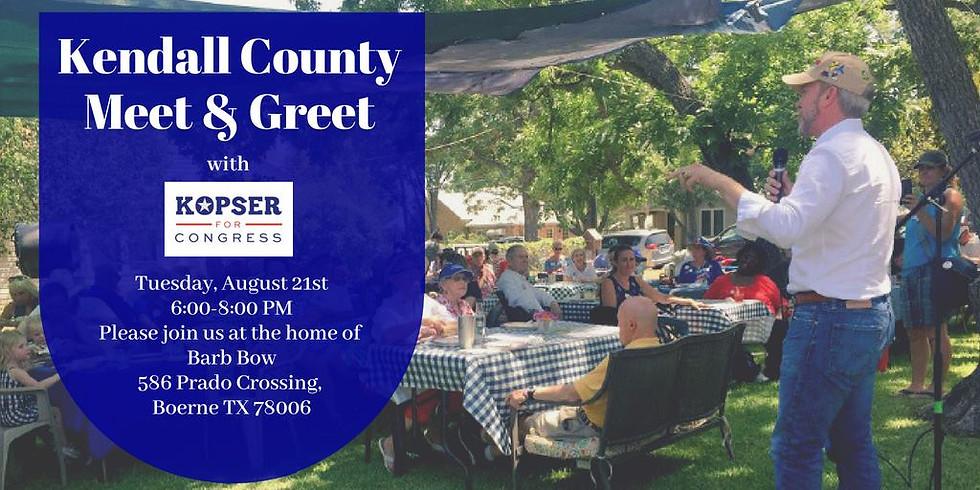 Kendall Country Meet & Greet with Joseph Kopser