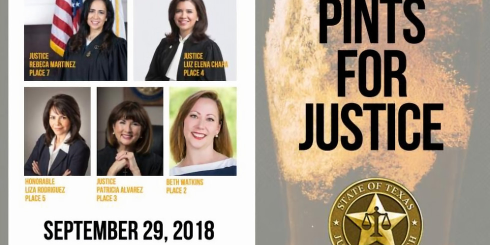 Pints for Justice - Sponsored by the Hill Country TDW
