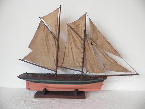 topsail schooner pond yacht antiques