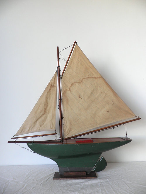"1930's Gamages Gaff Rigged Pond Yacht ""Phoenix""-Sold"