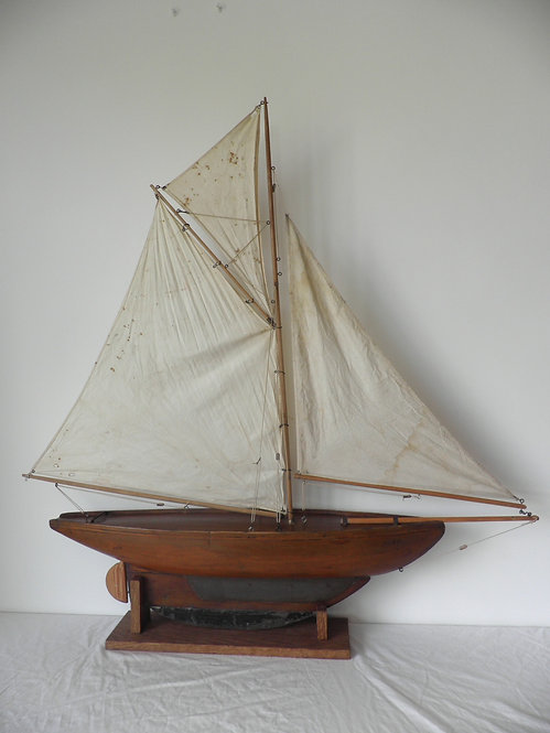 gaff rigged pond yacht antiques