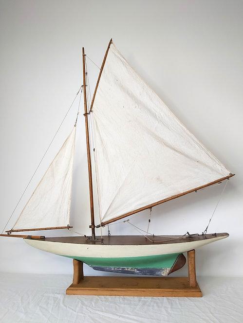 1930 gaffer pond yacht antiques